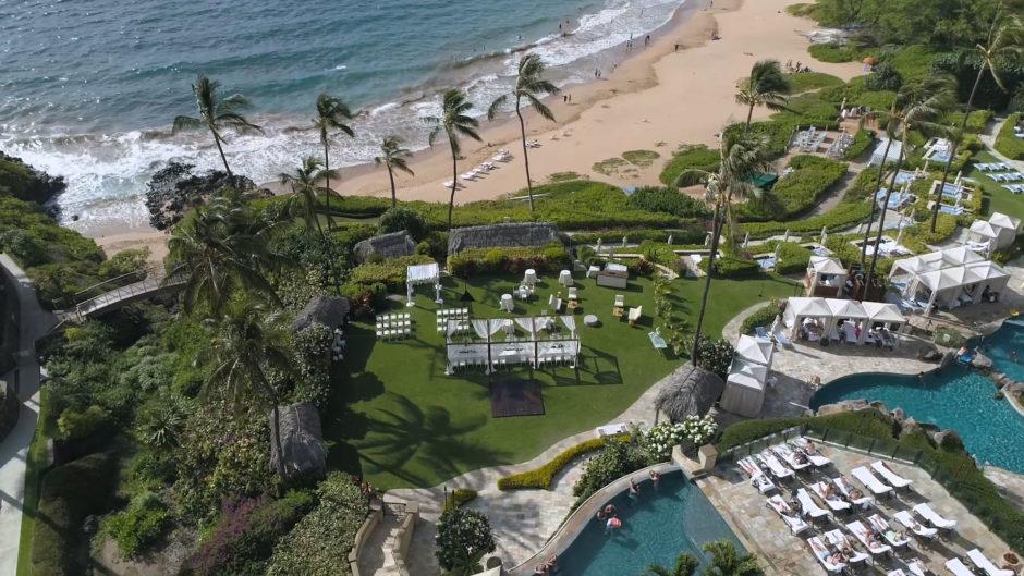 Four Seasons Maui at Wailea Drone Shot